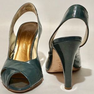 Kenneth Cole Patent Leather Sling Back Sz 7.5